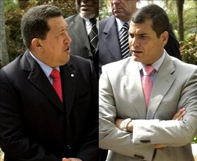 Hugo Chávez y RafaelCorrea