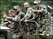 Tropas del Ejército de Georgia