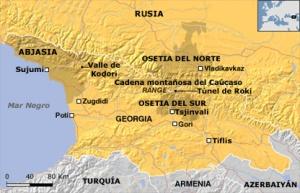 Mapa del escenario de guerra