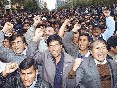 Protestas en el sur peruano