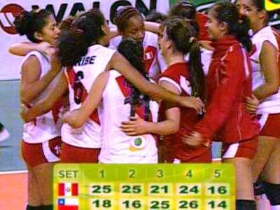 Perú 3 Chile 2 - Voley
