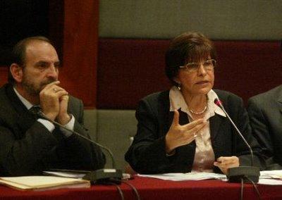 Mercedes Cabanillas y Yehude Simon