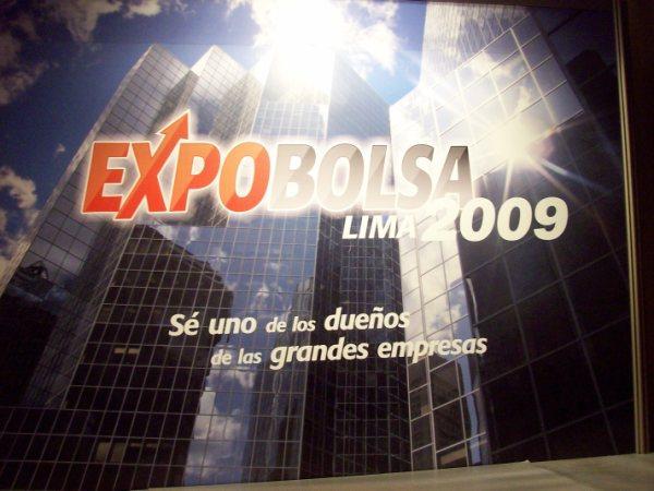 EXPOBOLSA 2009 FOTO: CARLOS LUYO