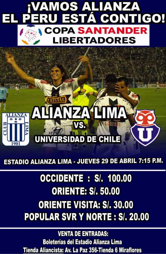 ALIANZA LIMA universidad de chile