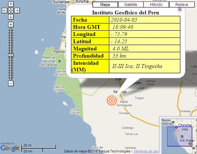 TEMBLOR ICA 5 DE ABRIL 2010