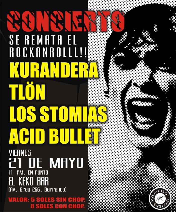 LOS STOMIAS CONCIERTO SE VENDE EL ROCK AND ROLL
