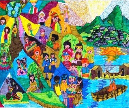 Resultado de imagen para pintura, el pueblo