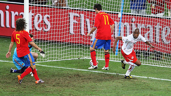 ESPAÑA 0 SUIZA 1