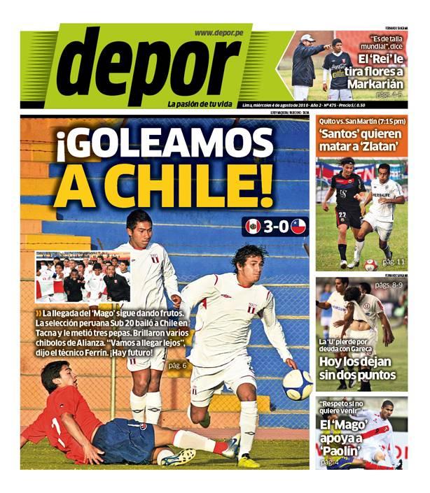 PERU GOLEA A CHILE