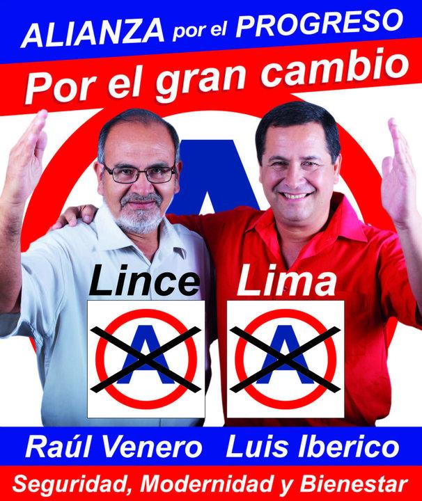 RAUL VENERO ALCALDE DE LINCE ALIANZA PARA EL PROGRESO