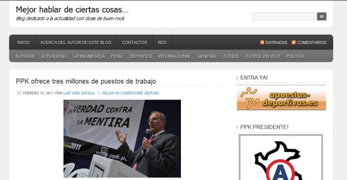MEJOR HABLAR DE CIERTAS COSAS