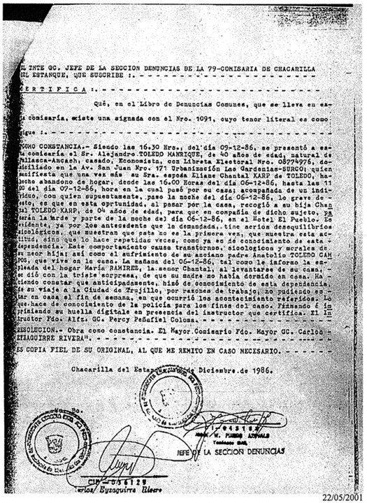 ELIANE KARP ALEJANDRO TOLEDO
