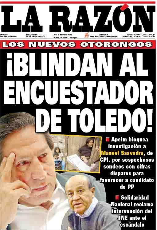TOLEDO MANIPULA ENCUESTADORAS