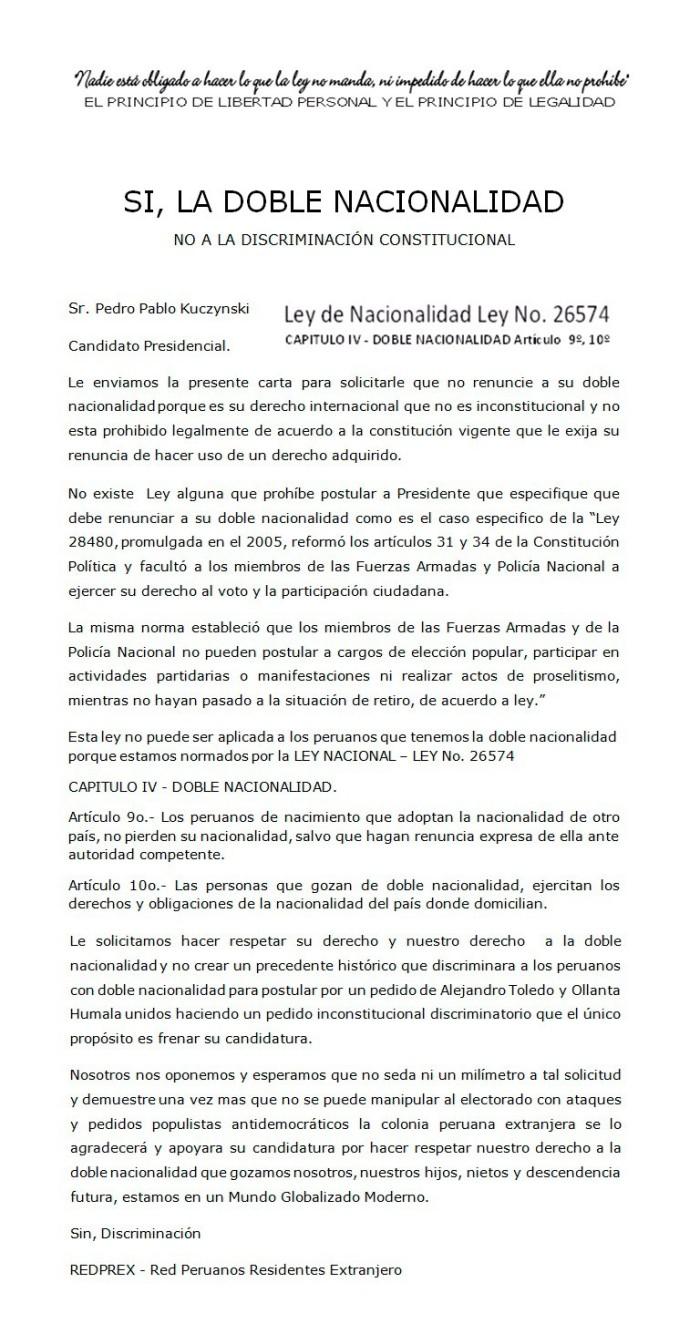 RED DE PERUANOS EN EL EXTRANJERO PPK