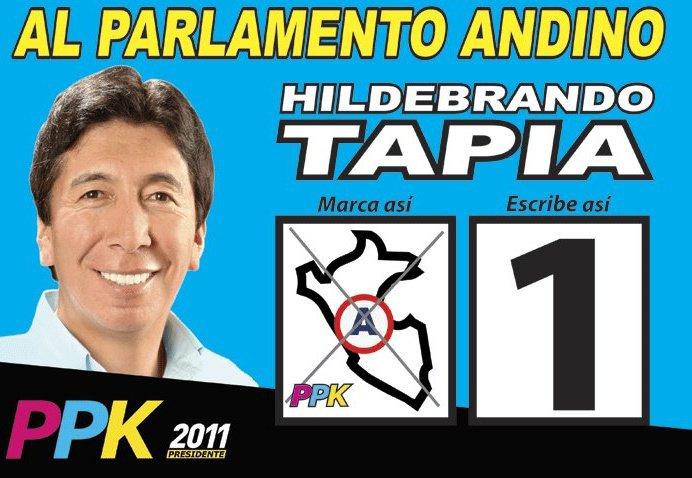 HILDEBRANDO TAPIA AL PARLAMENTO ANDINO