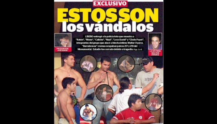 ESTOS SON LOS ASESINOS DE WALTER OYARCE