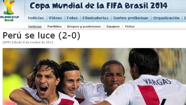PORTADA FIFA PERU 2 PARAGUAY 0