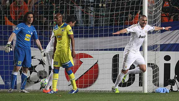 APOEL NICOSIA 0 - REAL MADRID 3