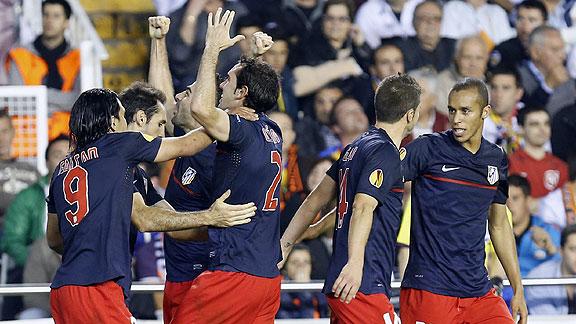 VALENCIA 0 - ATLETICO DE MADRID 1