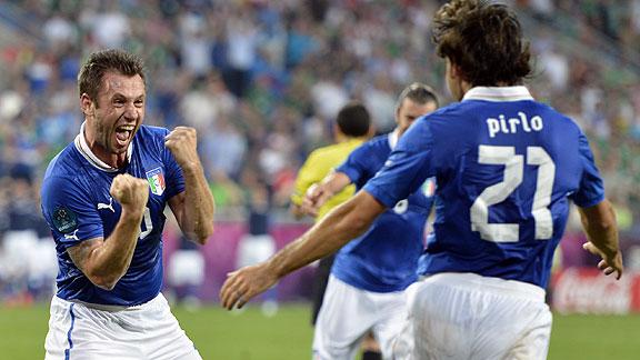 ITALIA 2 - IRLANDA 0