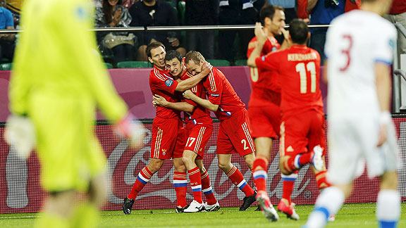 RUSIA 4 - REPUBLICA CHECA 1