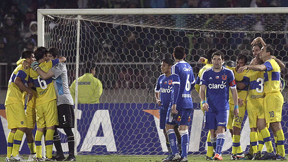 UNIVERSIDAD DE CHILE ELIMINADO BOCA JUNIORS A LA FINAL