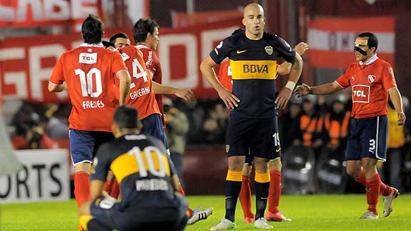 INDEPENDIENTE ELIMINO A BOCA JUNIORS