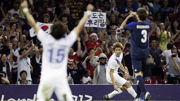 JAPON 0 - COREA DEL SUR 2