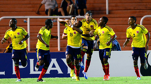 COLOMBIA 6 - BOLIVIA 0 SUB20 2013