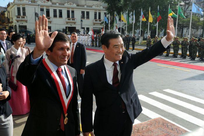 PRESIDENTE DE LA ASAMBLEA DE COREA EN EL PERU
