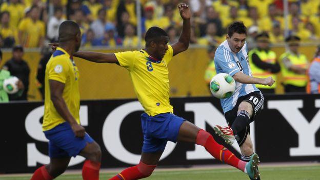 ECUADOR 1 - ARGENTINA 1