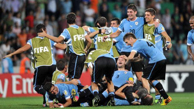 ESPAÑA 0 - URUGUAY 1