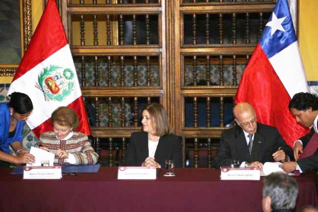 ACTA DE TRABAJO PERU CHILE FRONTERA MARITIMA