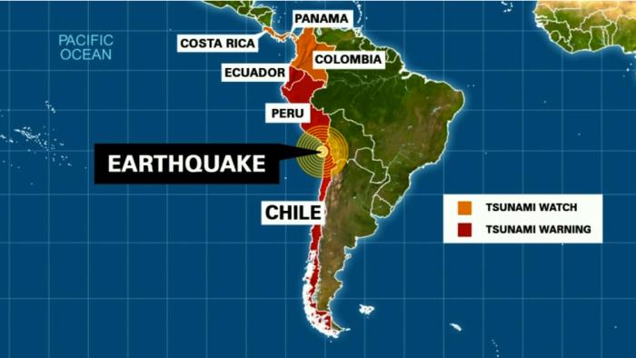 TERREMOTO ENTRE PERU Y CHILE