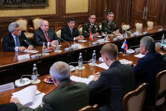 REUNION MINISTROS DE DEFENSA DE PERU Y RUSIA