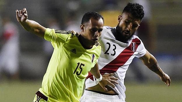PERU 0 - VENEZUELA 1 AMISTOSO 2015