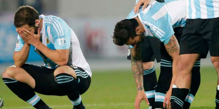 ARGENTINA PERDIO LA FINAL COPA AMERICA 2015