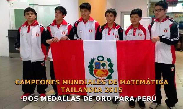 PERU CAMPEON MUNDIAL DE MATEMATICA TAILANDIA 2015