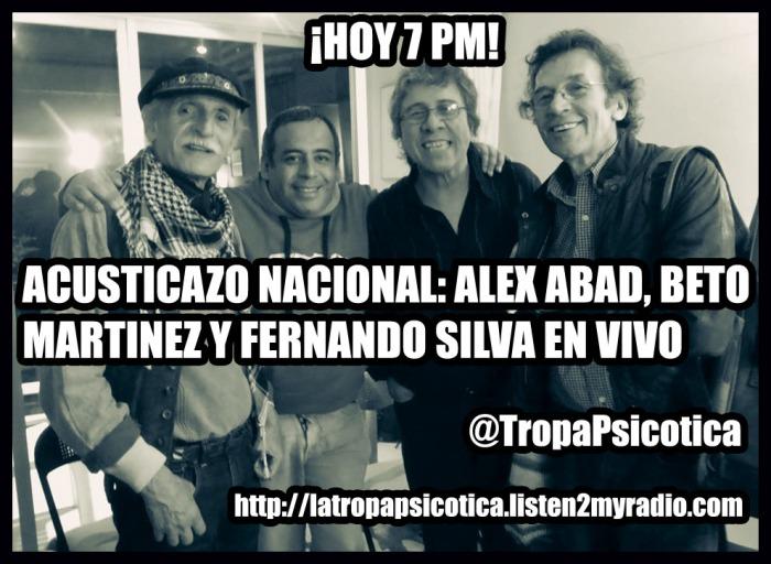 AFICHE TROPA PSICOTICA 3 DE OCTUBRE 2015