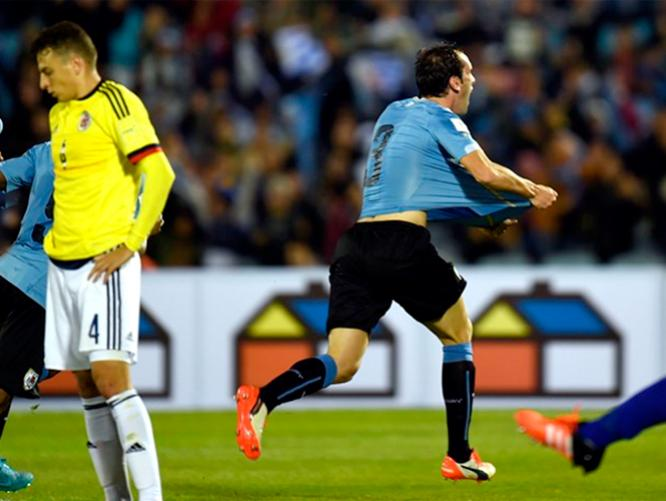 URUGUAY 3 COLOMBIA 0 ELIMINATORIAS 2018
