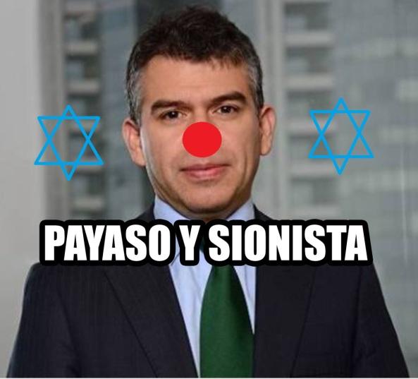 JULIO GUZMAN PAYASO Y SIONISTA