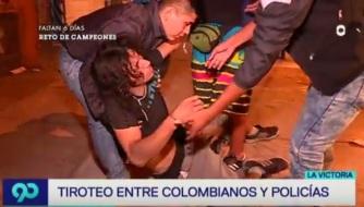 COLOMBIANOS GOLPEADO