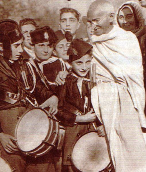 GANDHI EN ROMA 1931