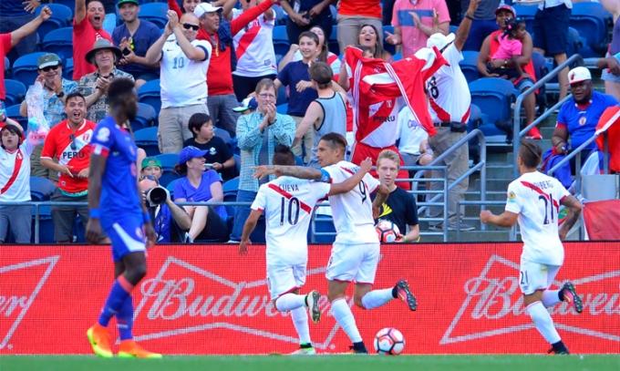 PERU 1 Haiti 0 copa america 2016