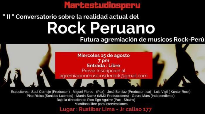CONVERSATORIO SOBRE EL ROCK PERUANO