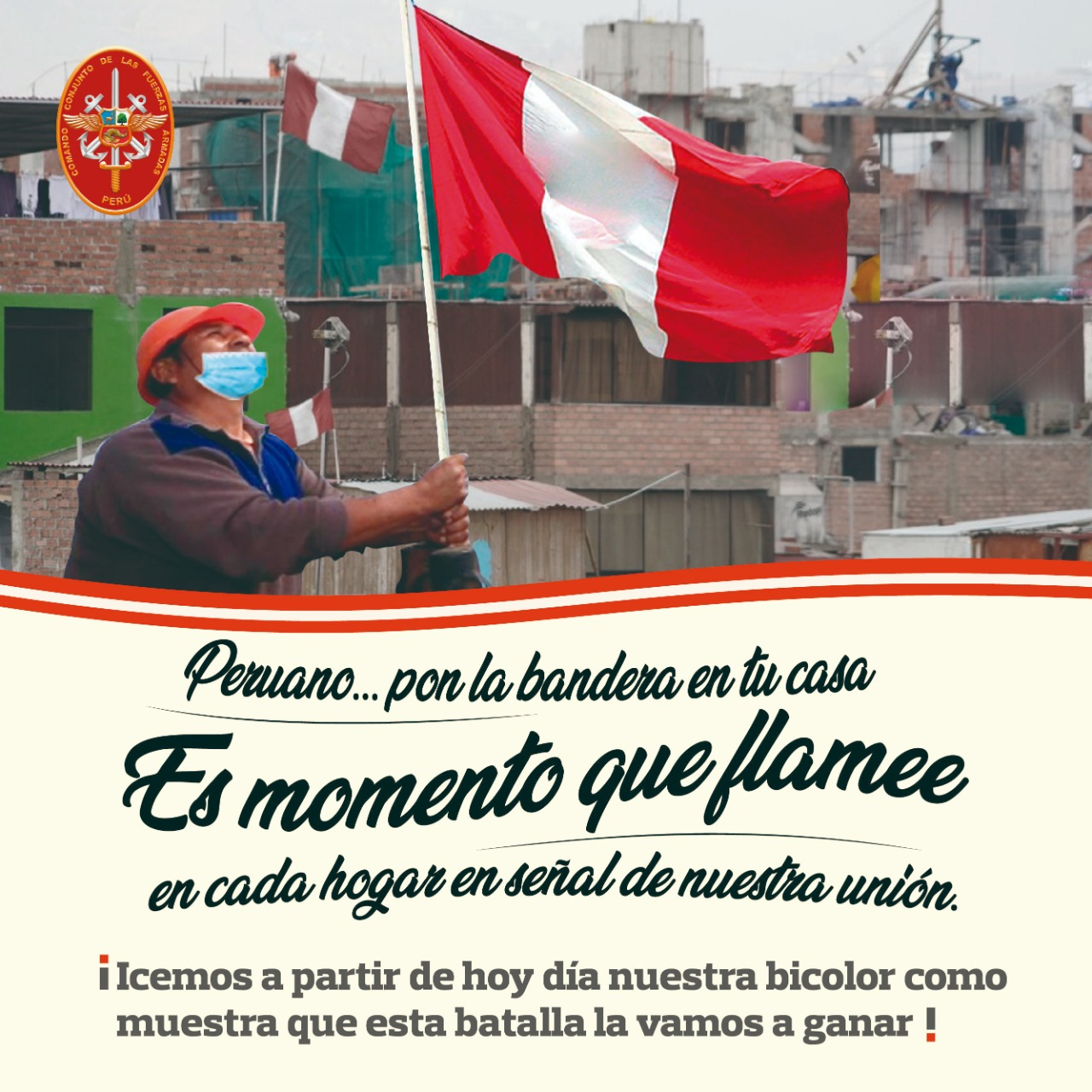 IZAR BANDERA PERUANA